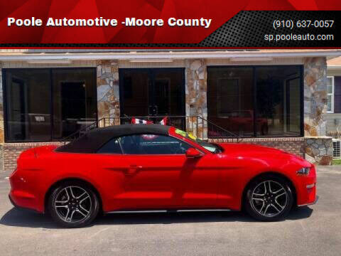 2019 Ford Mustang for sale at Poole Automotive in Laurinburg NC