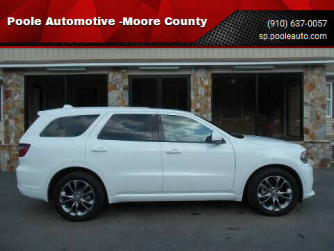 2019 Dodge Durango for sale at Poole Automotive in Laurinburg NC