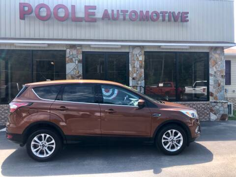 2017 Ford Escape for sale at Poole Automotive in Laurinburg NC
