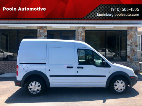2013 Ford Transit Connect for sale at Poole Automotive in Laurinburg NC