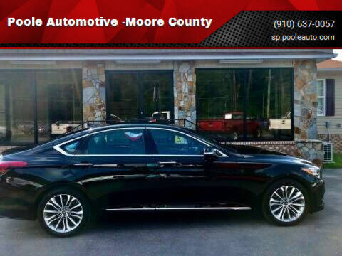 2017 Genesis G80 for sale at Poole Automotive in Laurinburg NC