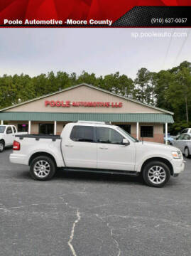 2008 Ford Explorer Sport Trac for sale at Poole Automotive in Laurinburg NC