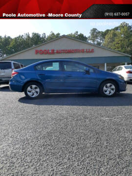 2013 Honda Civic for sale at Poole Automotive in Laurinburg NC