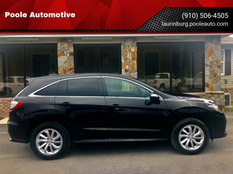 2017 Acura RDX for sale at Poole Automotive in Laurinburg NC