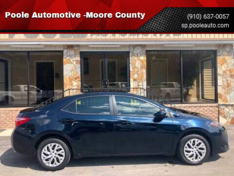 2017 Toyota Corolla for sale at Poole Automotive in Laurinburg NC