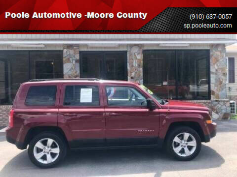 2016 Jeep Patriot for sale at Poole Automotive in Laurinburg NC