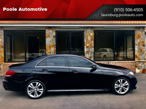 2016 Mercedes-Benz E-Class for sale at Poole Automotive in Laurinburg NC