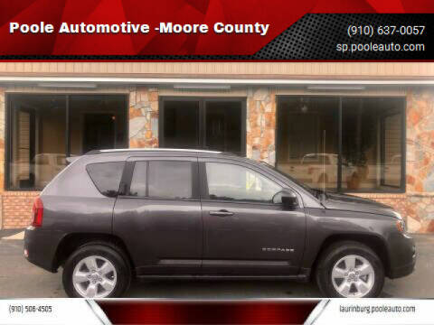 2016 Jeep Compass for sale at Poole Automotive in Laurinburg NC