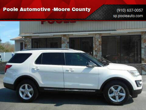 2016 Ford Explorer for sale at Poole Automotive in Laurinburg NC