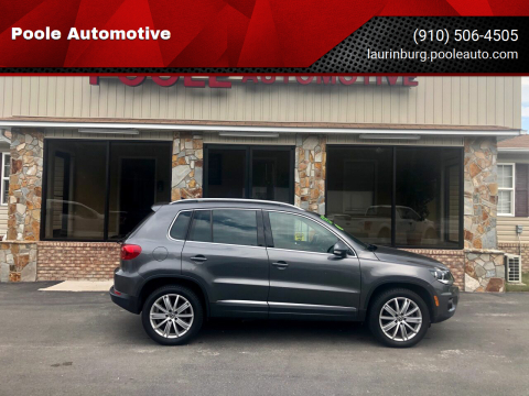 2015 Volkswagen Tiguan for sale at Poole Automotive in Laurinburg NC