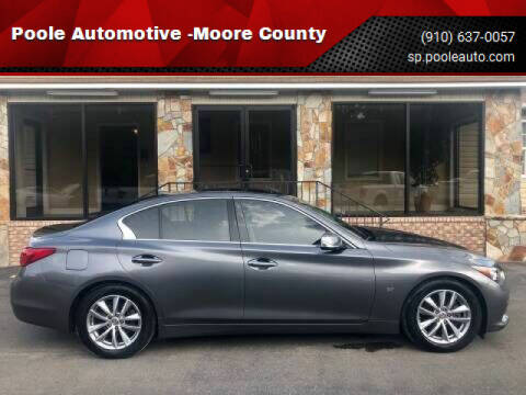 2014 Infiniti Q50 for sale at Poole Automotive in Laurinburg NC