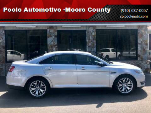 2013 Ford Taurus for sale at Poole Automotive in Laurinburg NC