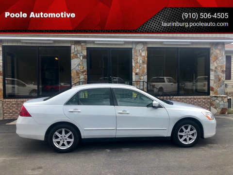 2006 Honda Accord for sale at Poole Automotive in Laurinburg NC