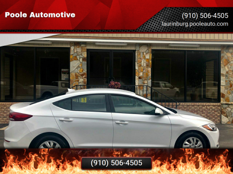 2017 Hyundai Elantra for sale at Poole Automotive in Laurinburg NC