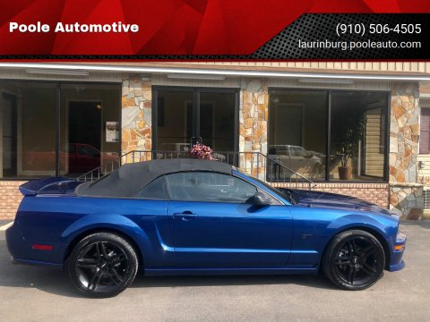 2007 Ford Mustang for sale at Poole Automotive in Laurinburg NC