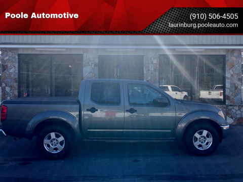 2008 Nissan Frontier for sale at Poole Automotive in Laurinburg NC
