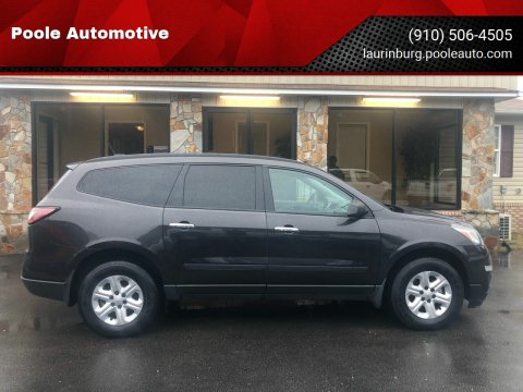 2016 Chevrolet Traverse for sale at Poole Automotive in Laurinburg NC