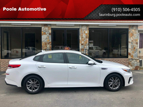 2020 Kia Optima for sale at Poole Automotive in Laurinburg NC