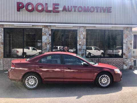 2006 Chrysler Sebring for sale at Poole Automotive in Laurinburg NC