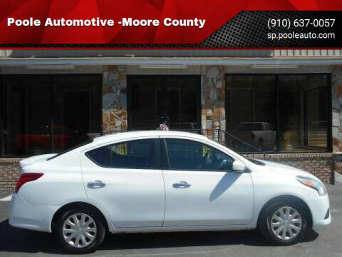 2015 Nissan Versa for sale at Poole Automotive in Laurinburg NC