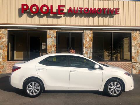 2016 Toyota Corolla for sale at Poole Automotive in Laurinburg NC