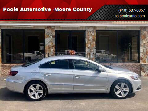 2015 Volkswagen CC for sale at Poole Automotive in Laurinburg NC