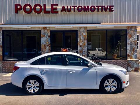 2014 Chevrolet Cruze for sale at Poole Automotive in Laurinburg NC