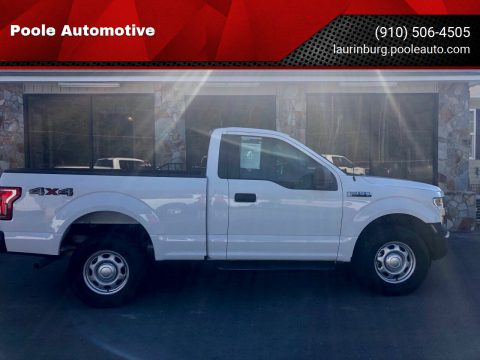 2016 Ford F-150 for sale at Poole Automotive in Laurinburg NC
