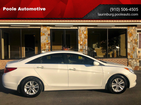 2013 Hyundai Sonata for sale at Poole Automotive in Laurinburg NC