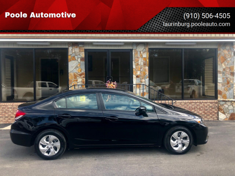 2014 Honda Civic for sale at Poole Automotive in Laurinburg NC