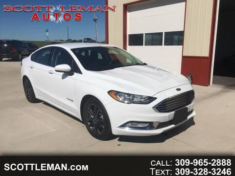 2018 Ford Fusion Hybrid for sale at SCOTT LEMAN AUTOS in Goodfield IL