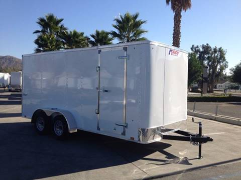 2017 16' ENCLOSED CARGO TRAILER PACE AMERICAN