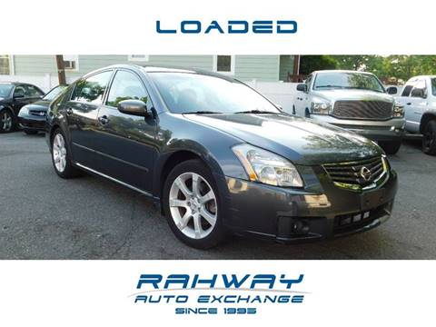 2007 Nissan Maxima for sale at RAHWAY AUTO EXCHANGE in Rahway NJ