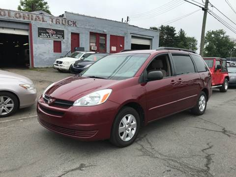 2004 Toyota Sienna for sale at Dan's Auto Sales and Repair LLC in East Hartford CT