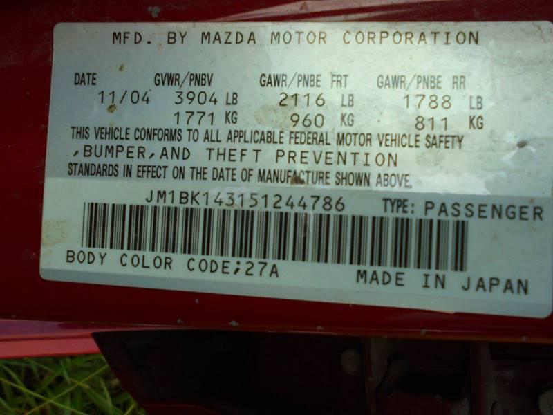 2005 Mazda MAZDA3 s 4dr Wagon - Duncan OK