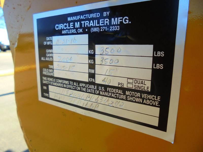 2016 Circle M Trailers Four Bale  - Duncan OK
