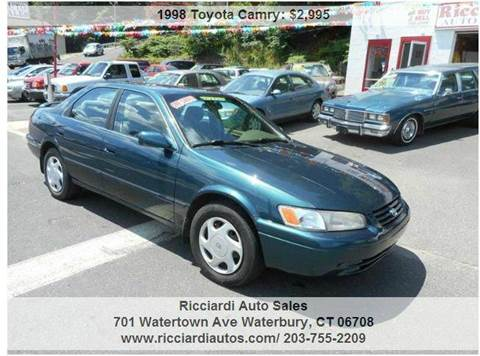 1998 Toyota Camry for sale at Ricciardi Auto Sales in Waterbury CT