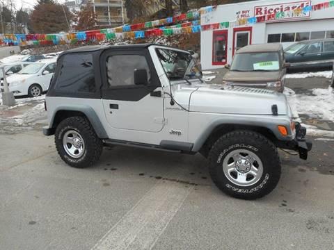 2002 Jeep Wrangler for sale at Ricciardi Auto Sales in Waterbury CT