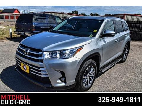 2019 Toyota Highlander for sale in San Angelo, TX