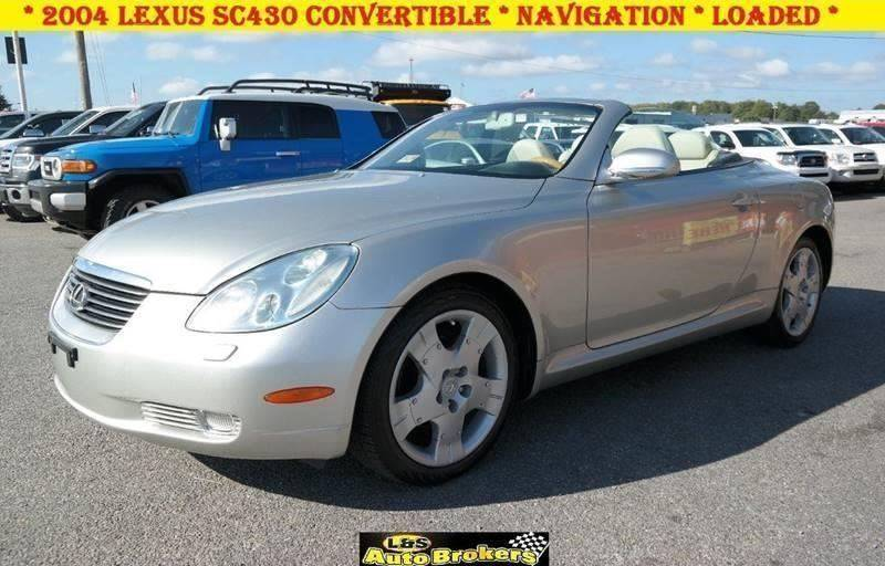 2004 lexus sc 430 convertible navigation in fredericksburg va l s auto brokers. Black Bedroom Furniture Sets. Home Design Ideas