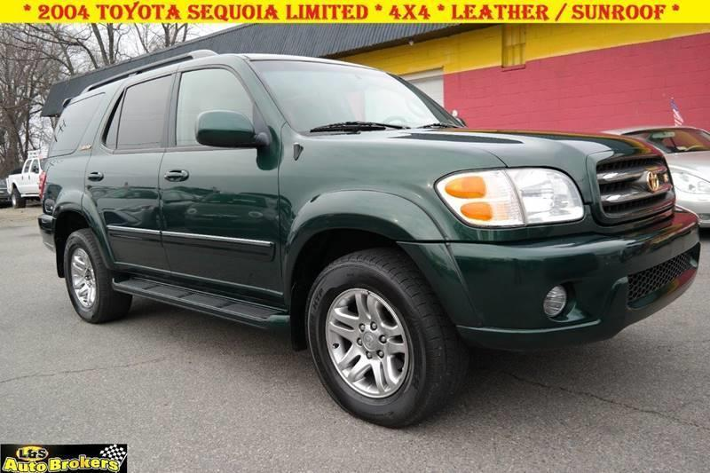 2004 toyota sequoia limited 4wd 4dr suv in fredericksburg va l s auto brokers. Black Bedroom Furniture Sets. Home Design Ideas
