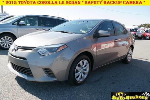 2015 Toyota Corolla for sale at L & S AUTO BROKERS in Fredericksburg VA