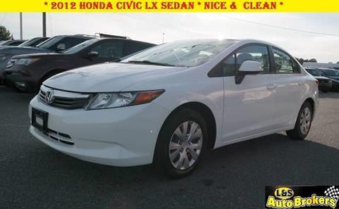 2012 Honda Civic for sale at L & S AUTO BROKERS in Fredericksburg VA