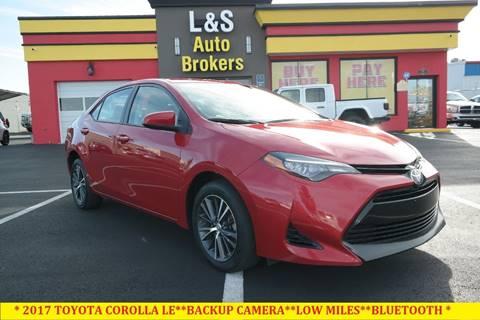 2017 Toyota Corolla for sale at L & S AUTO BROKERS in Fredericksburg VA