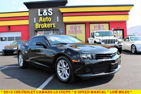 2015 Chevrolet Camaro for sale at L & S AUTO BROKERS in Fredericksburg VA