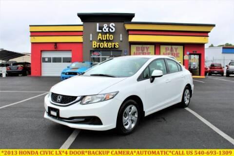 2013 Honda Civic for sale at L & S AUTO BROKERS in Fredericksburg VA