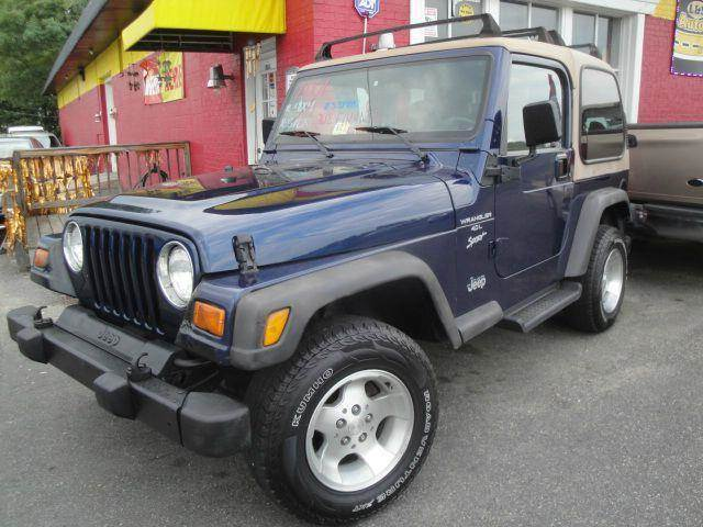 2001 jeep wrangler sport 4wd 5 speed manual in fredericksburg va l s auto brokers. Black Bedroom Furniture Sets. Home Design Ideas