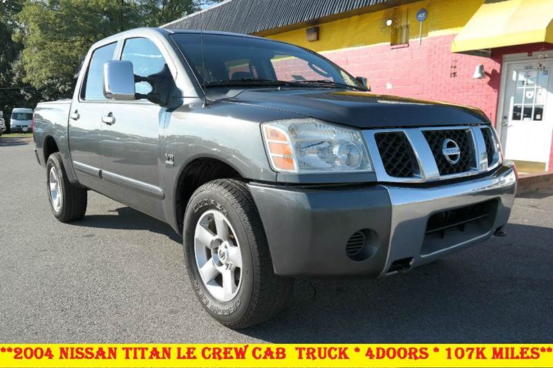 2004 nissan titan le 4dr crew cab 4wd in fredericksburg va. Black Bedroom Furniture Sets. Home Design Ideas