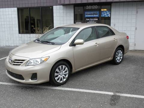 2013 Toyota Corolla for sale at Wilkins Automotive Group in Westland MI