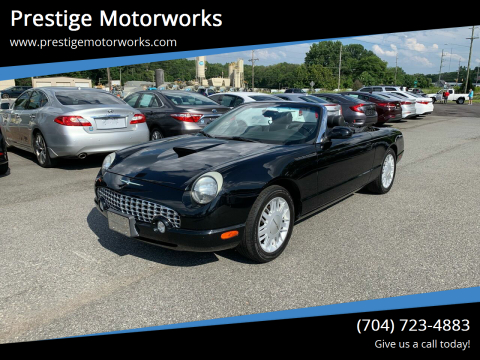 2002 Ford Thunderbird for sale at Prestige Motorworks in Concord NC